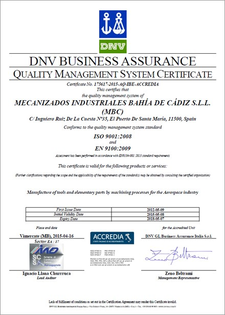 Certificación DNV
